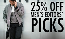 25% Off Men's Editors' Picks