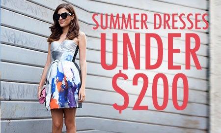 Summer Dresses Under $200
