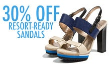 30% Off Resort-Ready Sandals