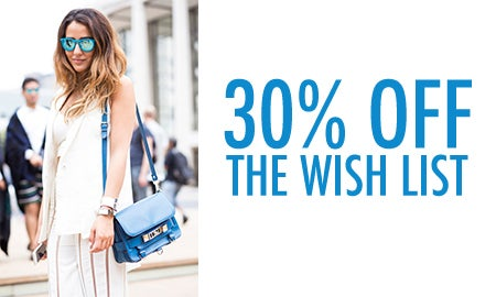 30% Off The Wish List