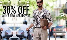30% Off Men's New Markdowns