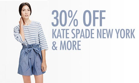 30% Off Kate Spade New York & More