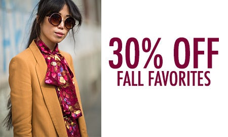 30% Off Fall Favorites