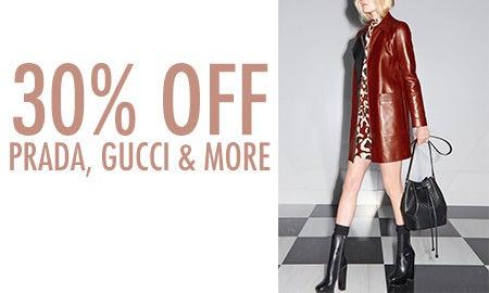 30% Off Prada, Gucci & More