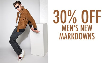 30% Off Men's New Markdowns