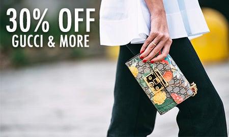 30% Off Gucci, Prada & More