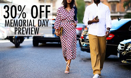 30% Off Memorial Day Preview