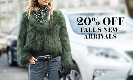 20% Off Fall's New Arrivals