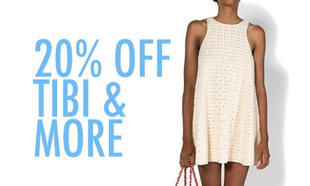20% Off Tibi & More